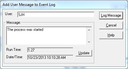 Event Log - Add User Message