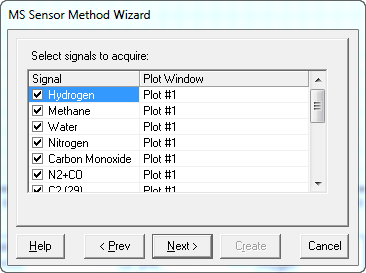 Wizard - Select Signals