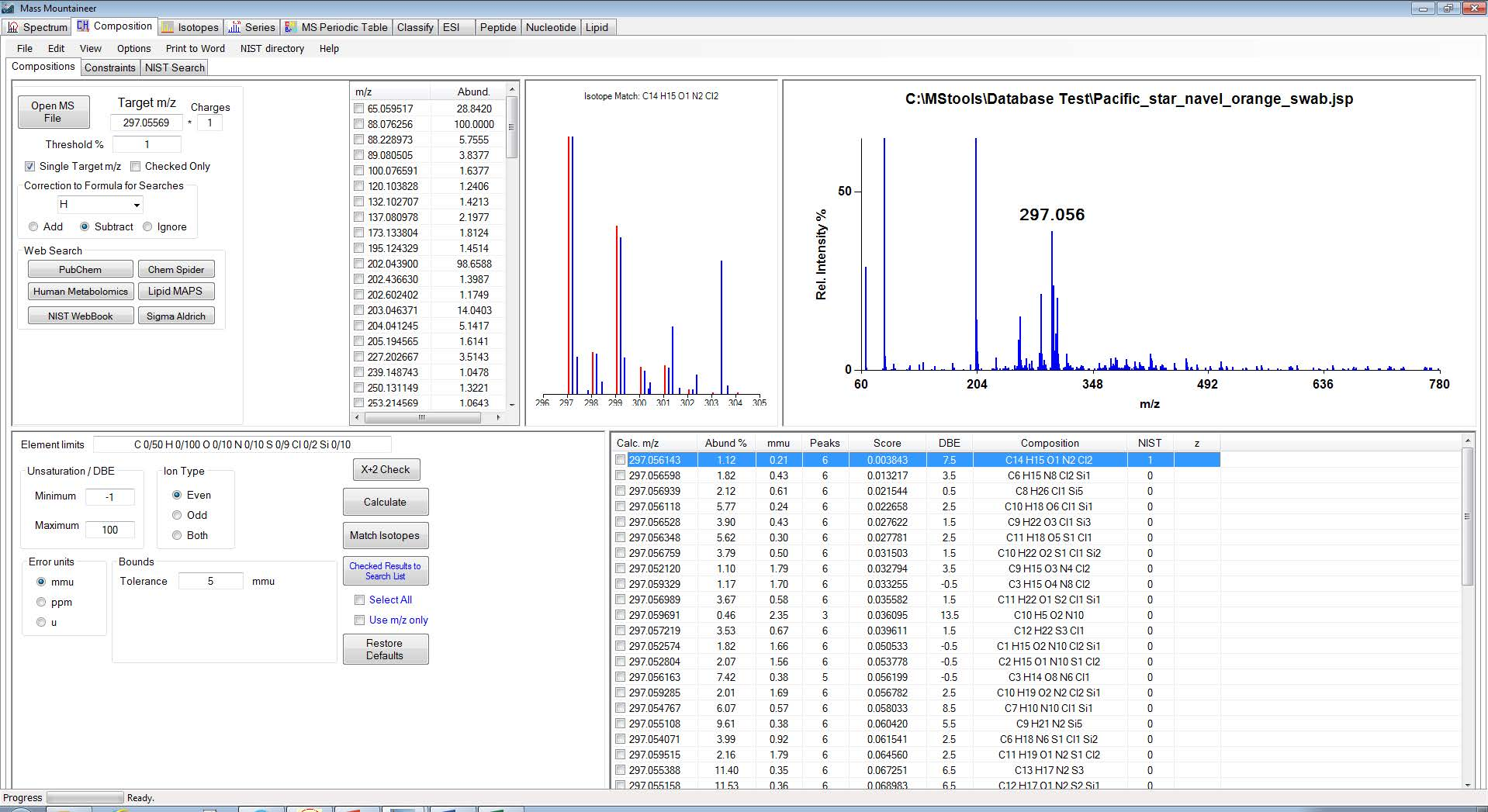 Elemental_Composition_Isotope_Match_and_Database_Search