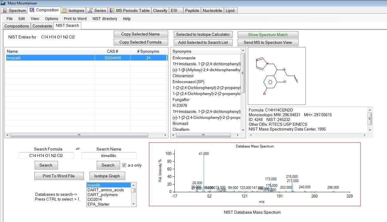 NIST_Database_Search_by_Elemental_Composition